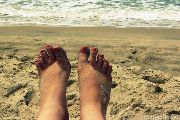 Strand Füsse